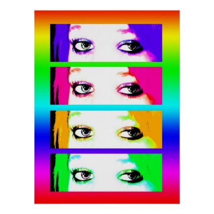 Print - Psychedelic Bright Eyes