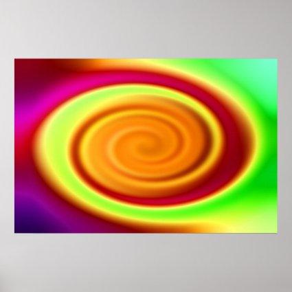 Print - Rainbow Swirl Abstract Pattern