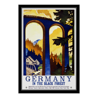 Print Retro Vintage Image Travel Germany
