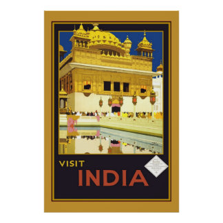 Print Retro Vintage Image Travel India