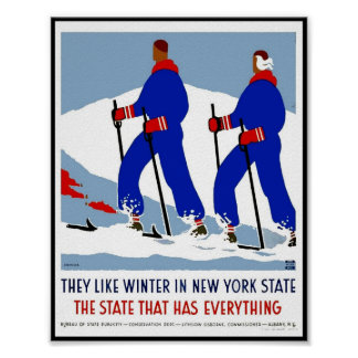 Print Retro Vintage Image Travel New York State