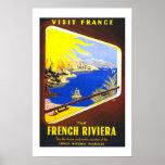Print Retro Vintage Image Travel Riviera France