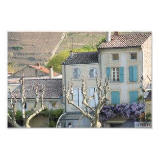 PRINT - Rural village scene France Photo