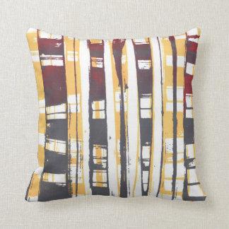 Print Squares Throw Pillow
