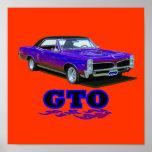 "Print with ""Pontiac GTO"" design"