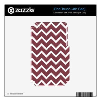 Print zig zag brown tone. iPod touch 4G skins