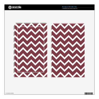 Print zig zag brown tone. decal for kindle fire