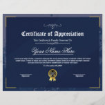 "Printable Certificate Of Appreciation<br><div class=""desc"">Printable Certificate of appreciation. Easy-to-customize Certificate Layout for any occassion</div>"