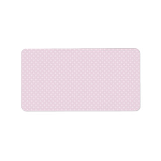 Printable DIY blank address labels with polka dots