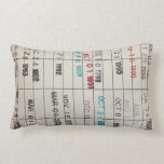 "Printable Library Cards Lumbar Pillow<br><div class=""desc"">Printable Library Cards</div>"