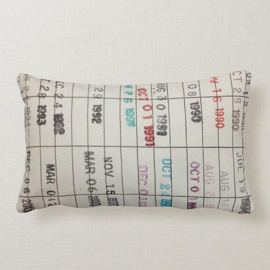 Printable Library Cards Lumbar Pillow