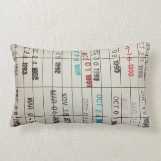 Printable Library Cards Throw Pillow