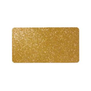 Printable Shiny Gold Glitter Blank Address Labels at Zazzle