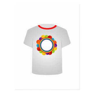 Printable tshirt graphic- colorful circles postcard