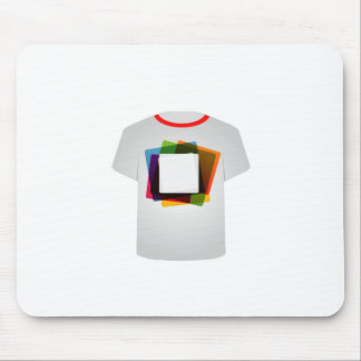 Printable tshirt graphic- colorful shapes mouse pad