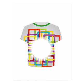 Printable tshirt graphic- colorful shapes postcard