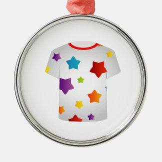 Printable tshirt graphic- Colorful stars Christmas Ornaments