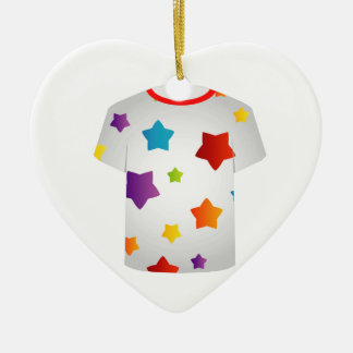 Printable tshirt graphic- Colorful stars Christmas Tree Ornaments
