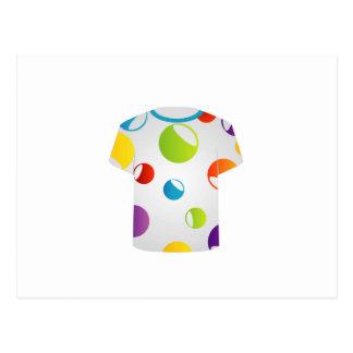 Printable tshirt graphic- fractal circles postcard