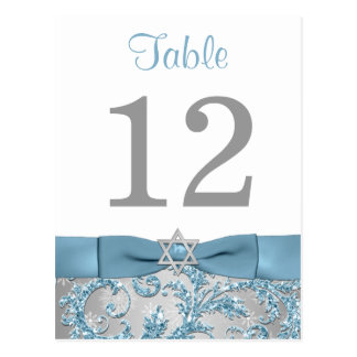 PRINTED Bow - Winter Wonderland Table Number Card Postcard