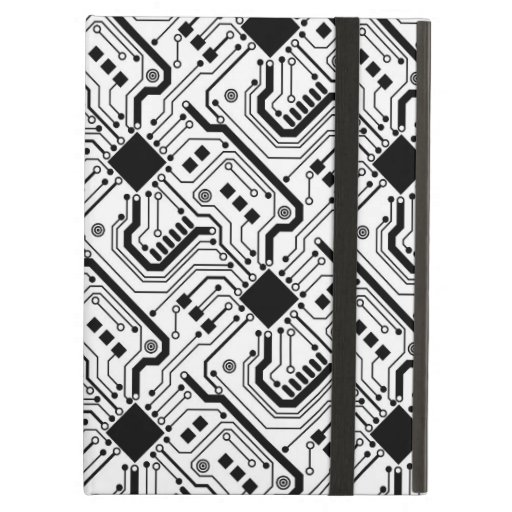 Printed Circuit Board - Black on White Case For iPad Air