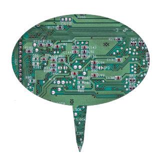 Printed circuit board cake topper