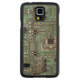 Printed Circuit Board Case Carved® Maple Galaxy S5 Slim Case