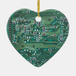 Printed circuit board ceramic ornament