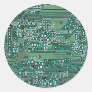 Printed circuit board classic round sticker