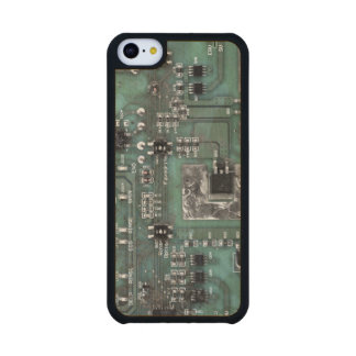 Printed Circuit Board iPhone Case Carved® Maple iPhone 5C Case