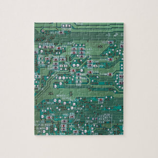 Printed circuit board jigsaw puzzle