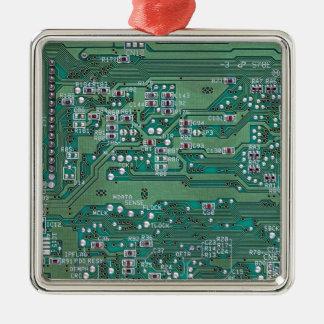 Printed circuit board metal ornament