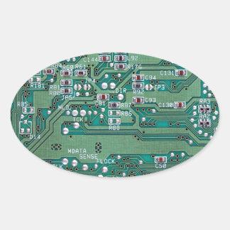 Printed circuit board oval sticker