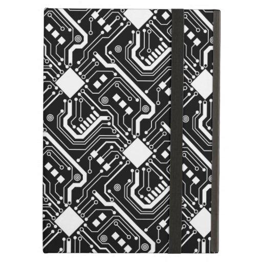 Printed Circuit Board - White on Black Case For iPad Air