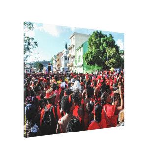 Printed cotton: Gwan Chawa carnival 2015 Canvas Print