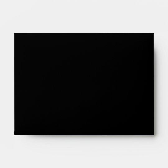 Printed Custom Monogram. Black and Pale Gray. Envelope