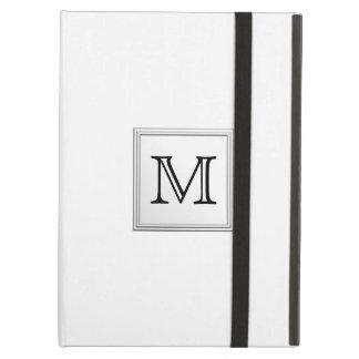 Printed Custom Monogram. Black and White. Cover For iPad Air