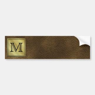 Printed Custom Monogram Image. Brown. Bumper Sticker