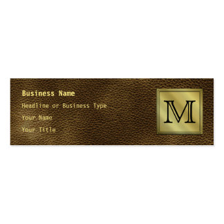 Printed Custom Monogram Image. Brown. Double-Sided Mini Business Cards (Pack Of 20)