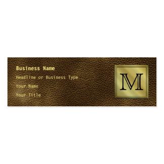 Printed Custom Monogram Image. Brown. Business Card Templates