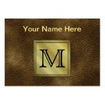 Printed Custom Monogram Image. Brown. Business Cards