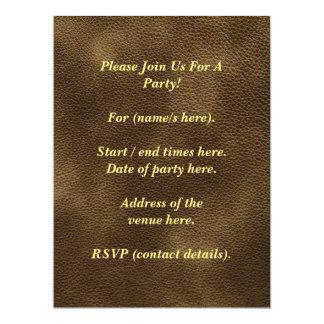 Printed Custom Monogram Image. Brown. 6.5x8.75 Paper Invitation Card