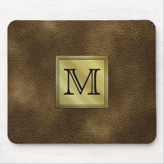 Printed Custom Monogram Image. Brown. Mouse Pad