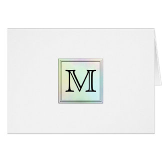 Printed Custom Monogram Image Pretty multicolor Cards