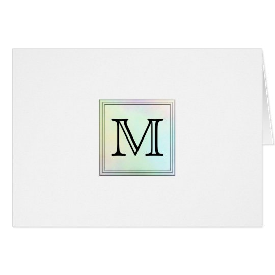 Printed Custom Monogram Image. Pretty, multicolor. Card