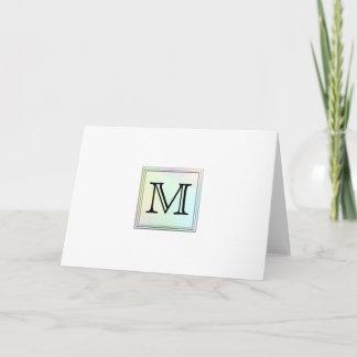 Printed Custom Monogram Image. Pretty, multicolor. Note Card