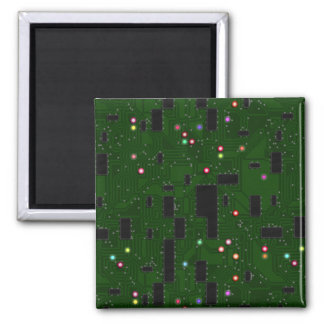 Printed Electronic Circuit Board 2 Inch Square Magnet