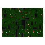 Printed Electronic Circuit Board Greeting Cards