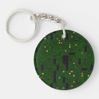 Printed Electronic Circuit Board Keychain