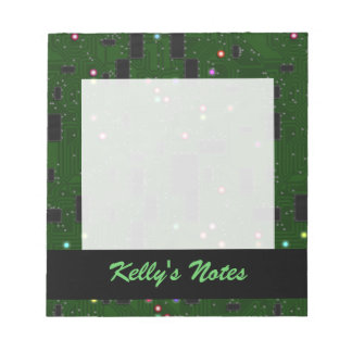 Printed Electronic Circuit Board Note Pad